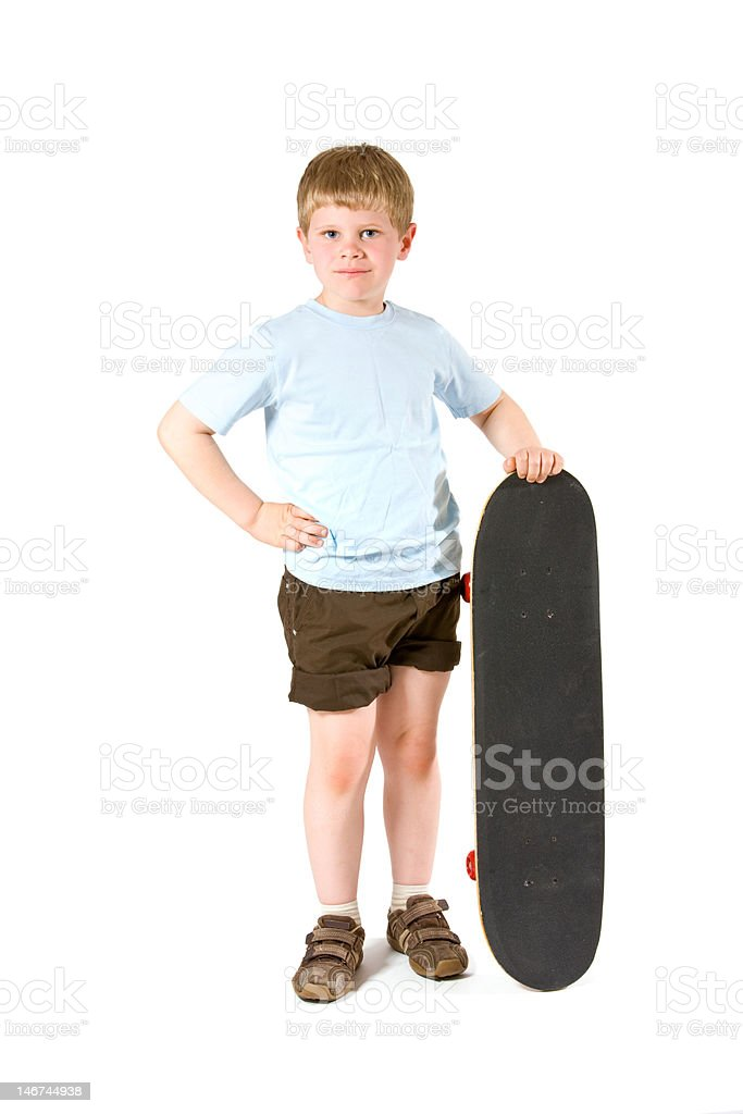 Boy with skateboard royalty-free stock photo