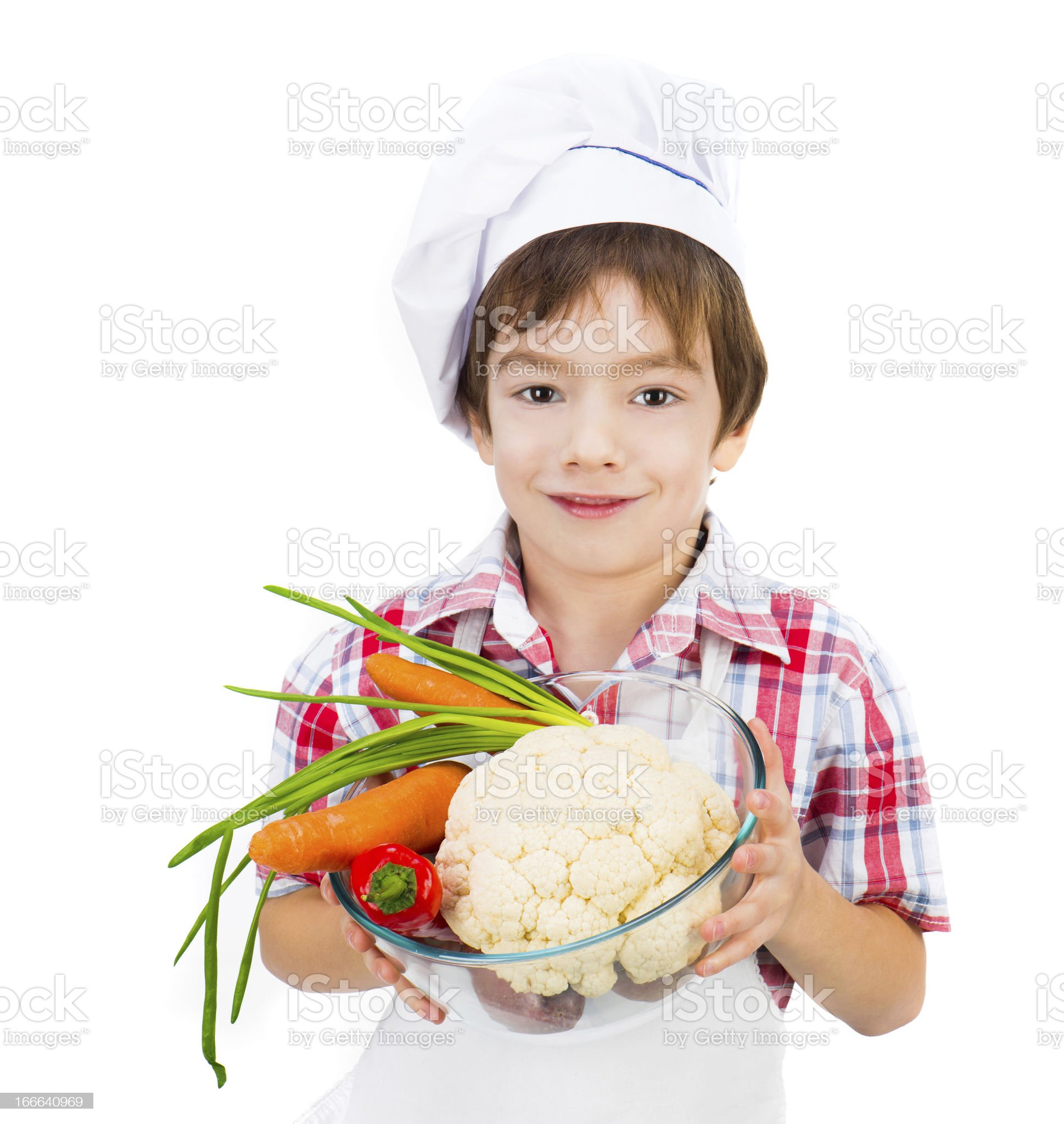 boy with vegetables royalty-free stock photo