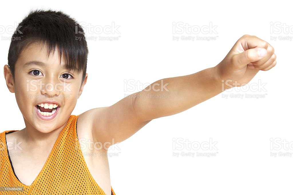 Boy with white background royalty-free stock photo