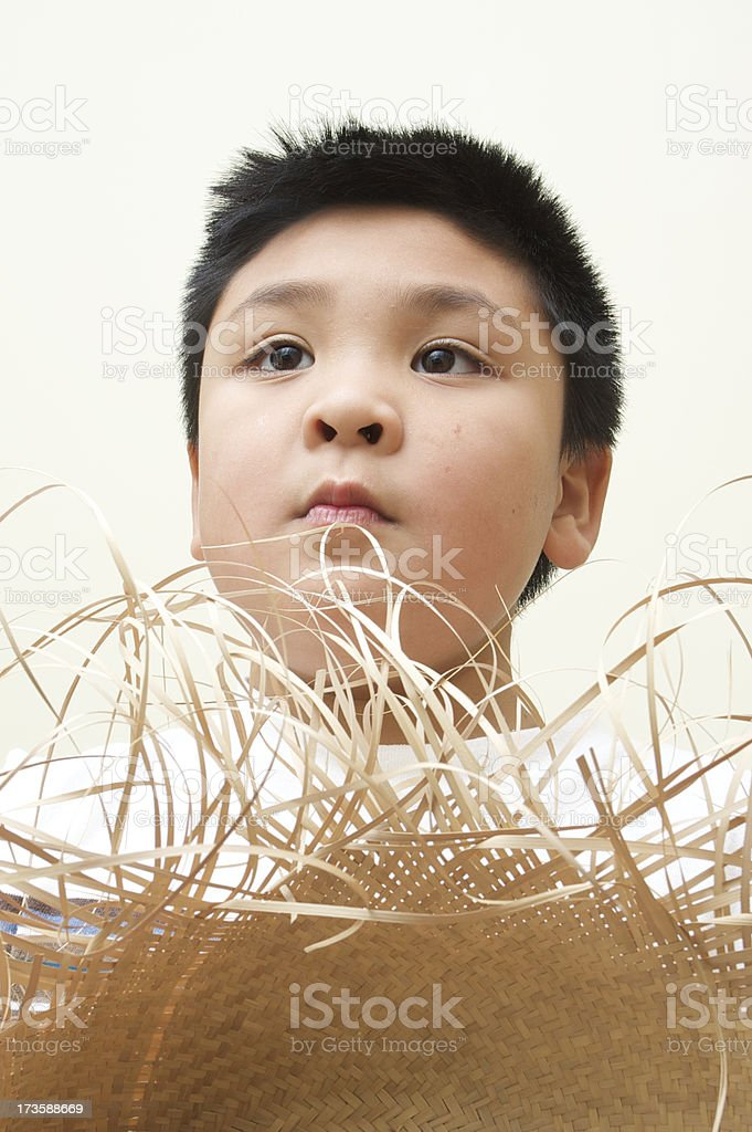 boy wondering stock photo