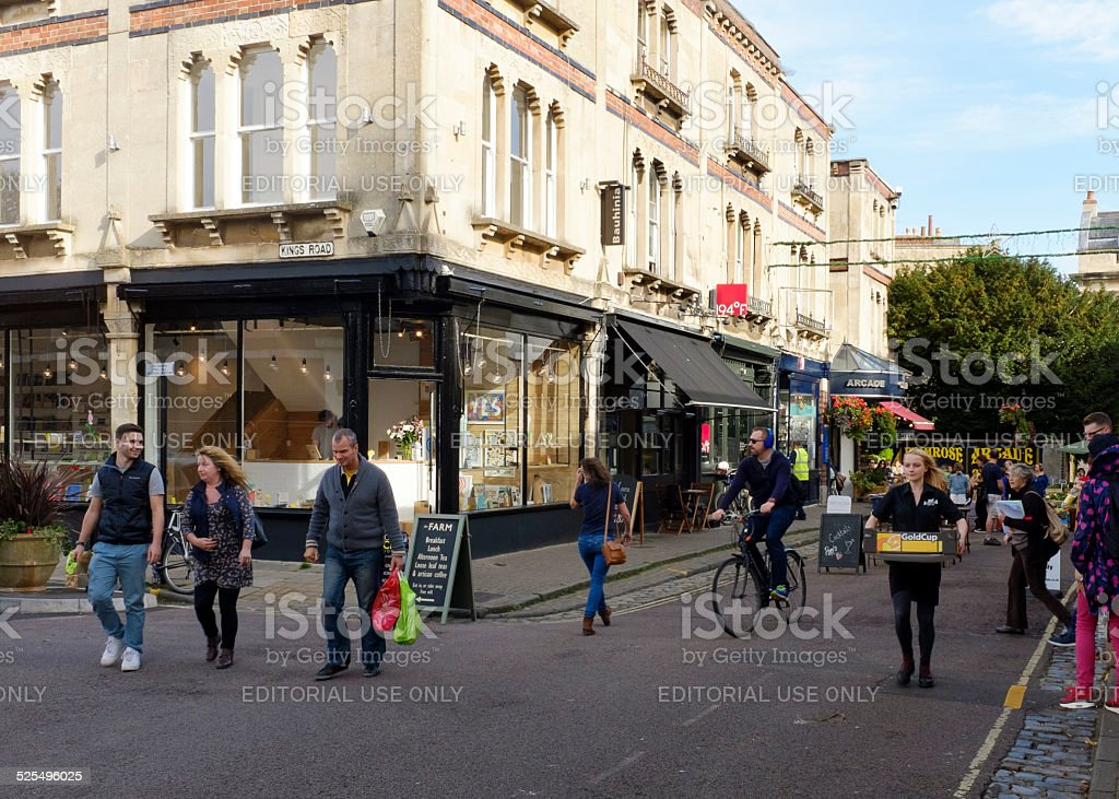 Boyce's Avenue shops and cafes, Clifton, Bristol stock photo