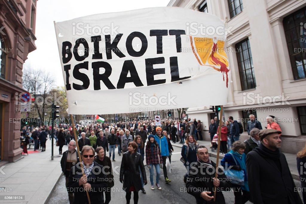 Boycott Israel banner stock photo