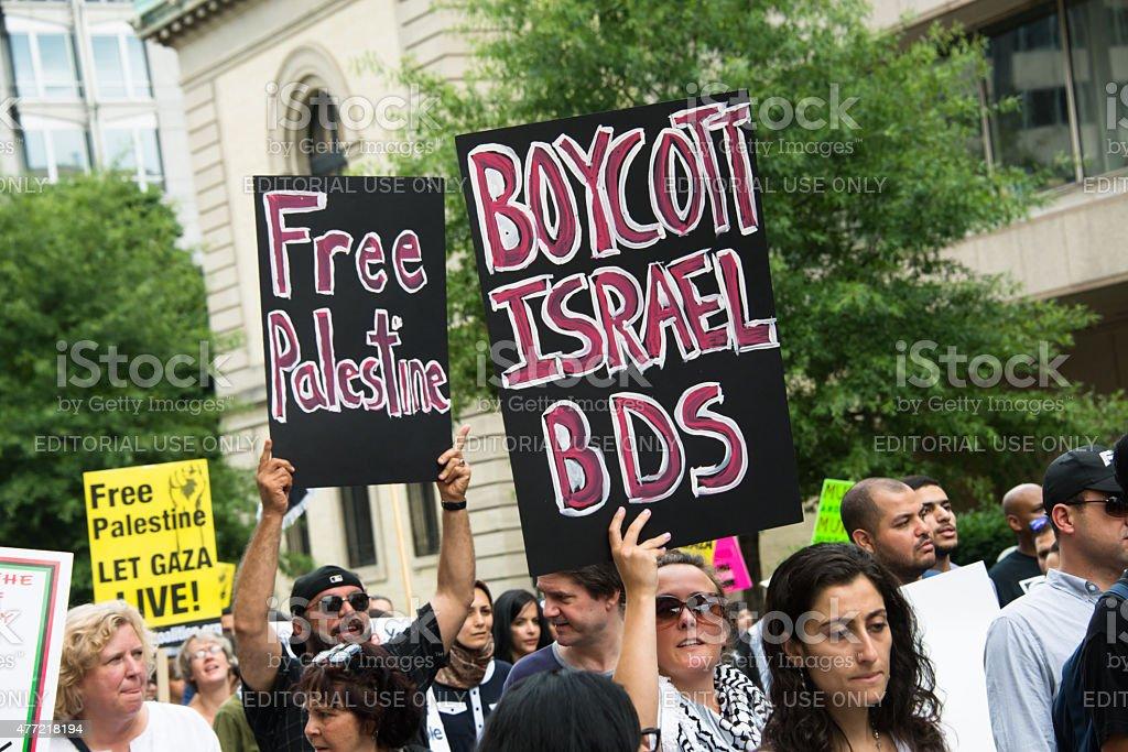 Boycott Israel BDS stock photo