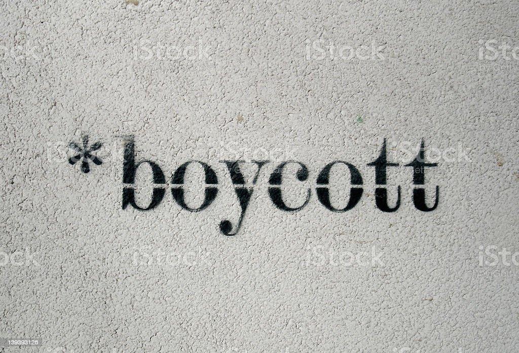boycott stock photo
