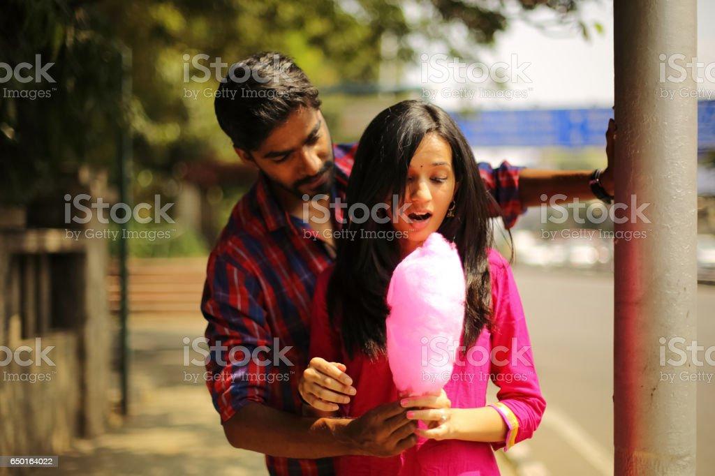 Boyfriend Offering Sugarcandy stock photo