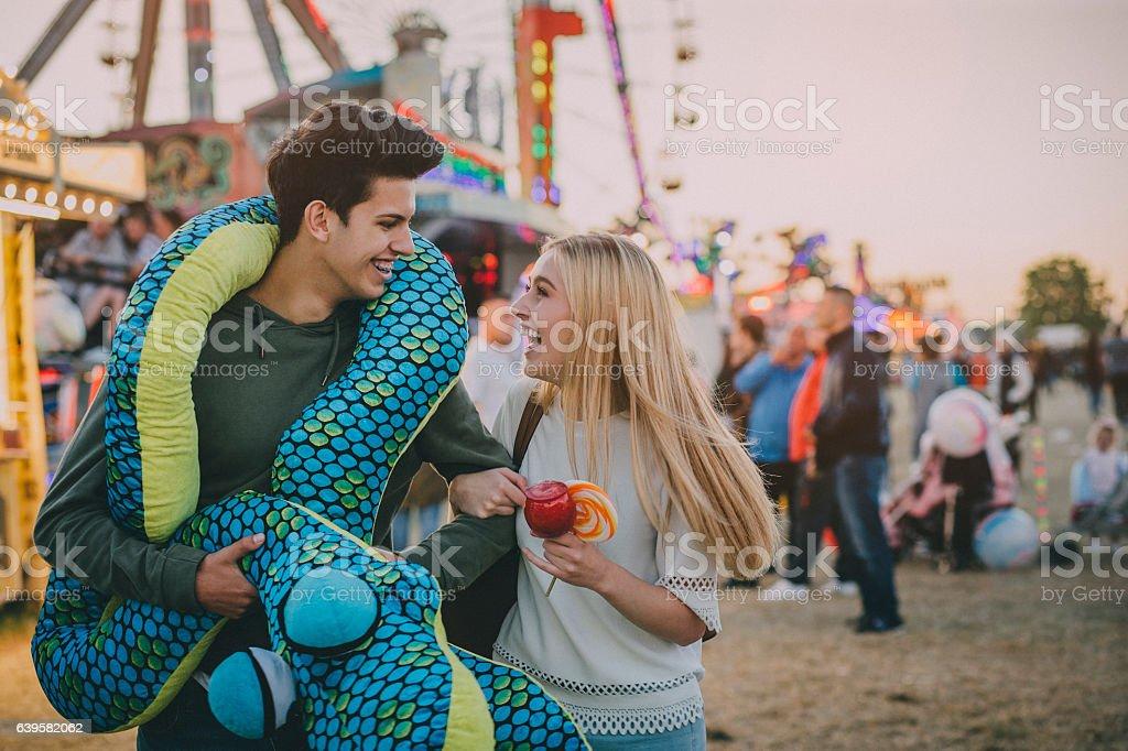 Boyfriend Won Festival Toy stock photo