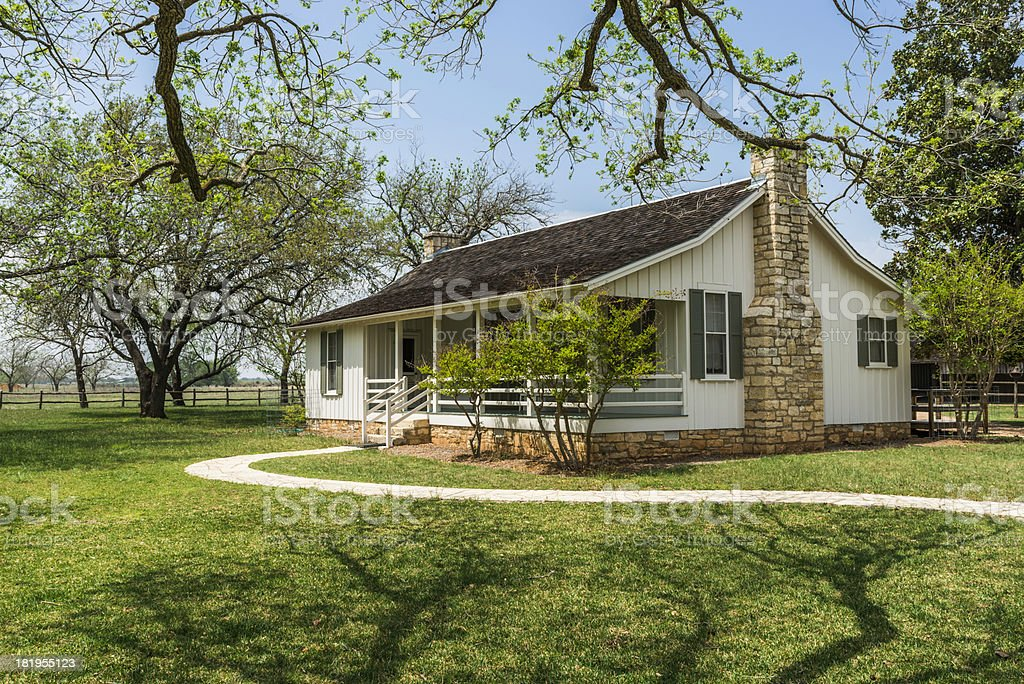boyhood home of Lyndon B. Johnson National Historic Park stock photo