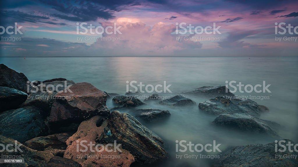 Boynton Baia di tramonto foto stock royalty-free