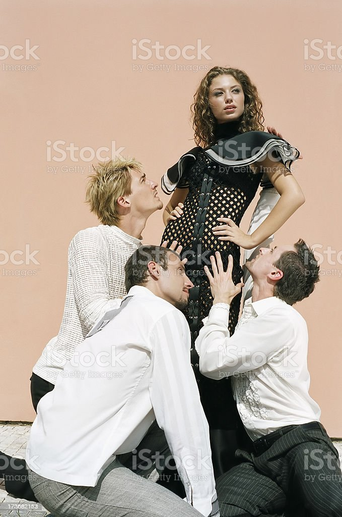 Boys and girl royalty-free stock photo