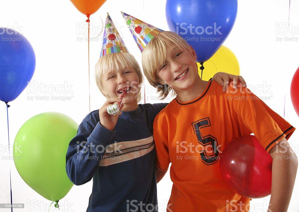 Boys at a Party royalty-free stock photo