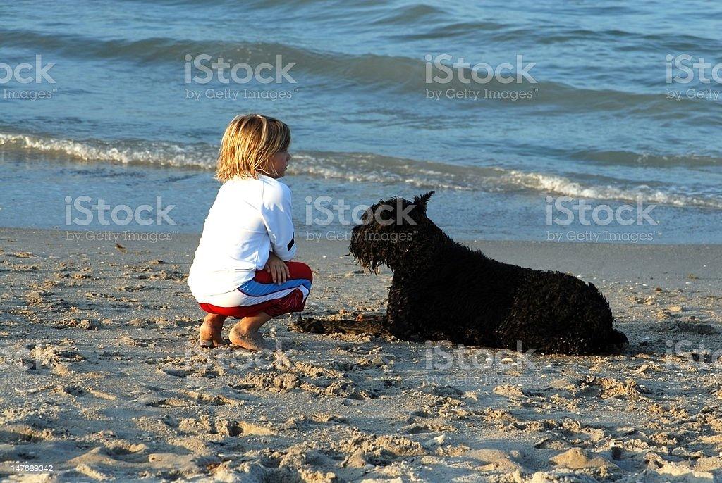 Boy's best friend royalty-free stock photo