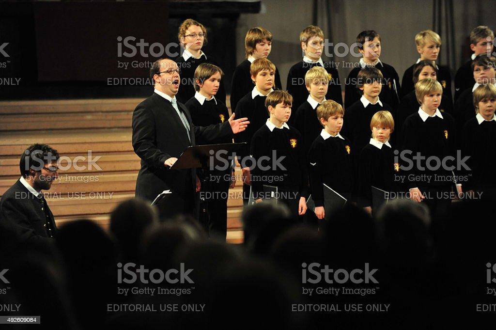 Boy«s choir stock photo