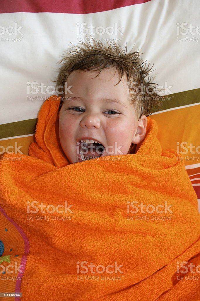 Boys cries with laughter royalty-free stock photo