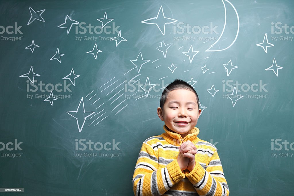 Boy's dream royalty-free stock photo