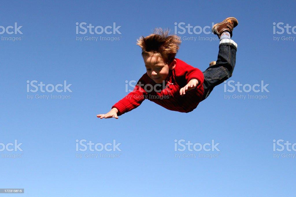 boy's free fall stock photo