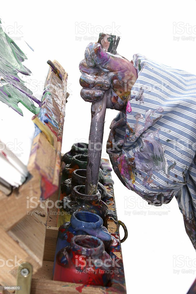 Boy's Hand in Paint royalty-free stock photo