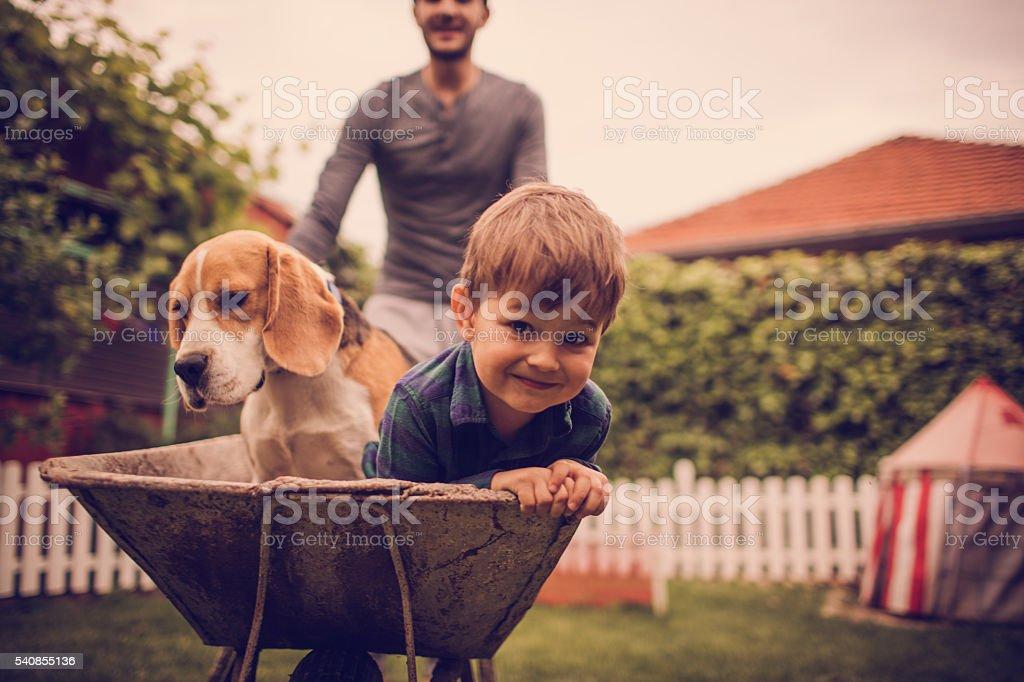 Boys having fun stock photo