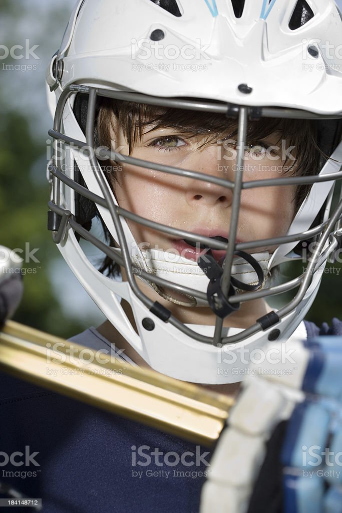 Boys Lacrosse portrait stock photo