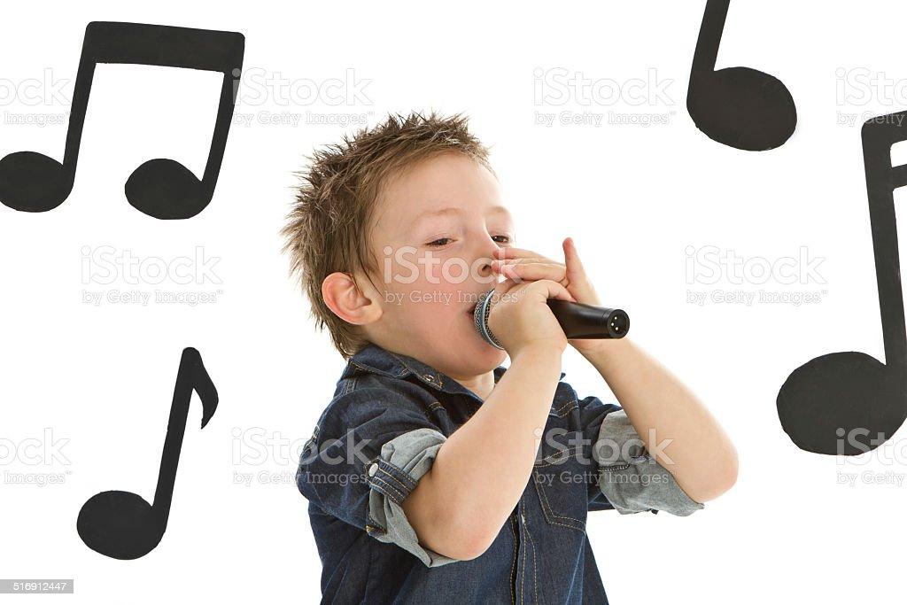 Boy's musical concert stock photo