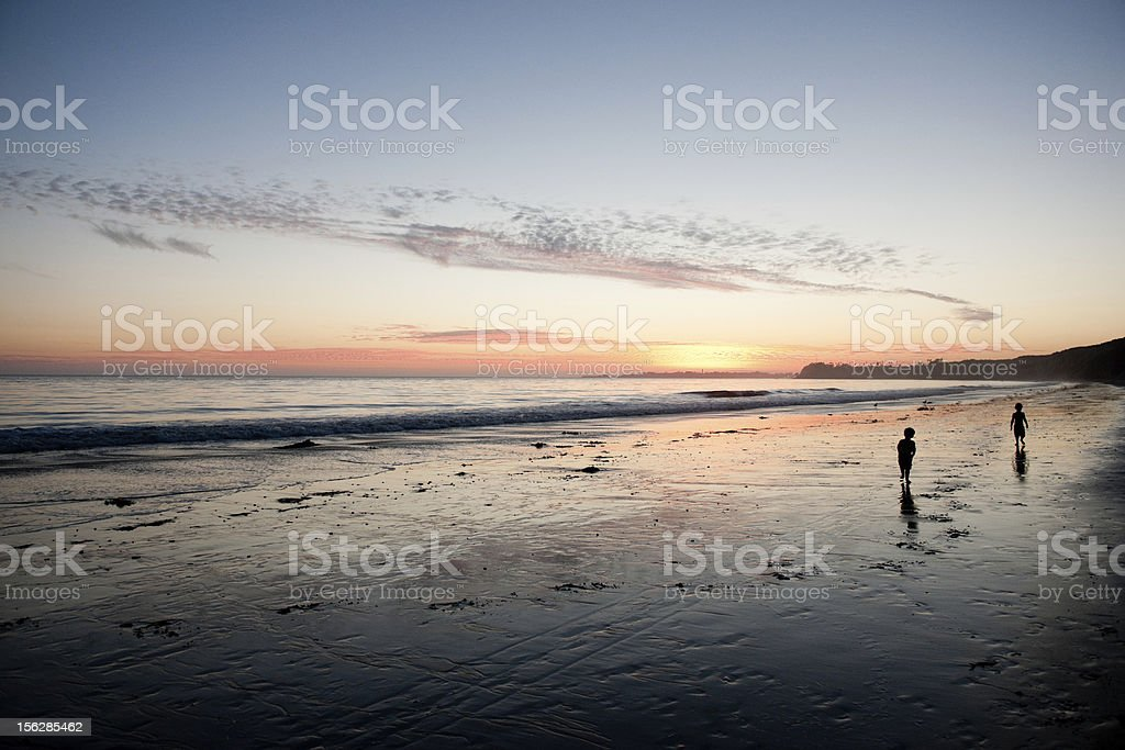 Boys on the beach royalty-free stock photo
