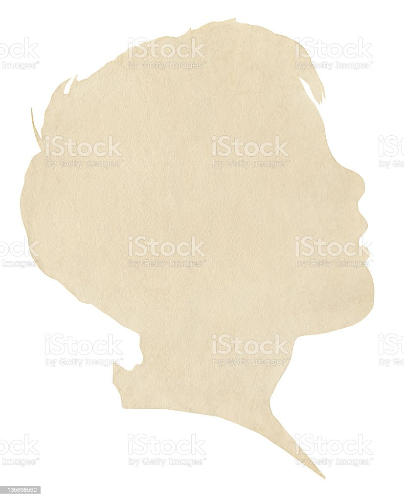 Boy's Paper Silhouette royalty-free stock photo