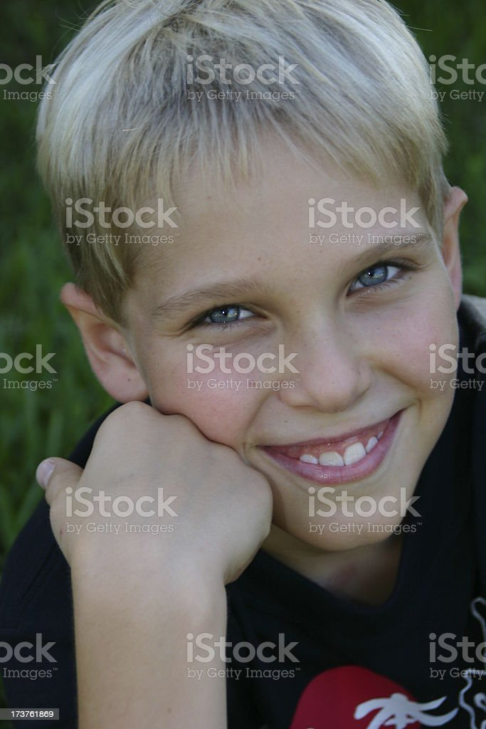 Boy's portrait (2) royalty-free stock photo