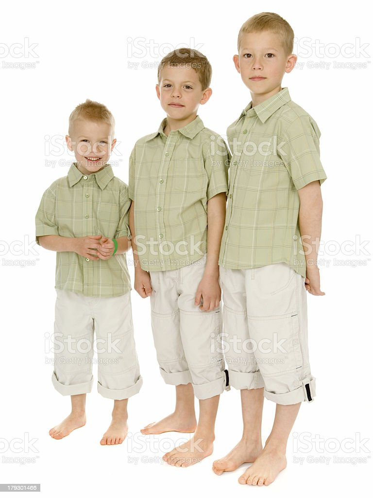 Boys Portrait - Smallest to Tallest royalty-free stock photo