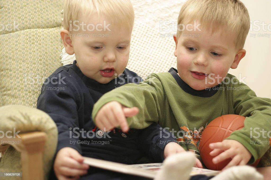 Boys Reading royalty-free stock photo