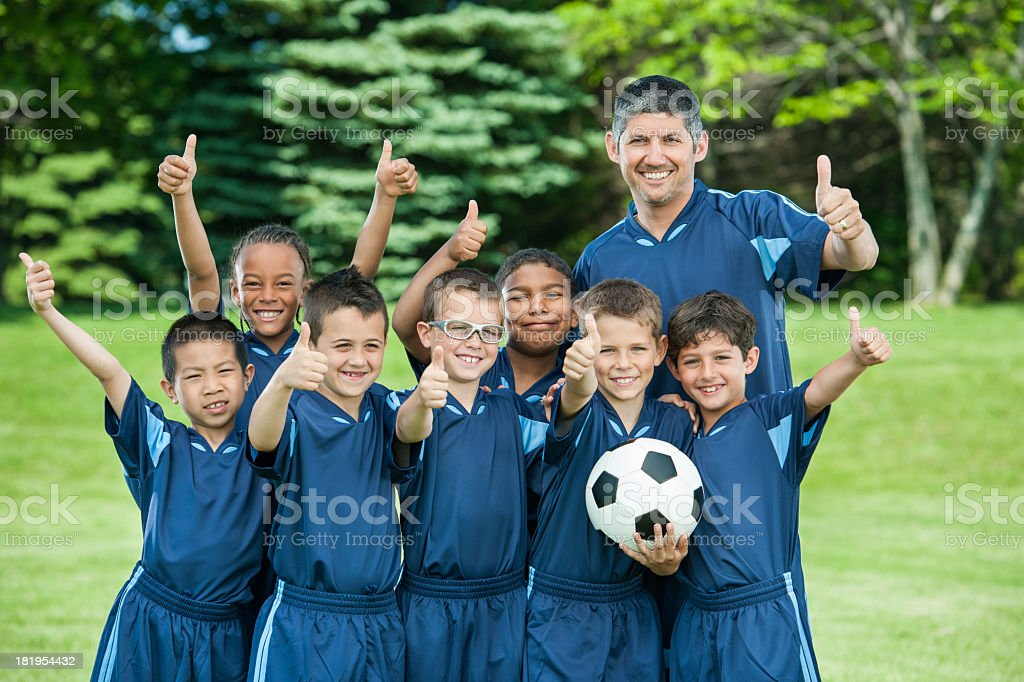 Boys Soccer Team royalty-free stock photo