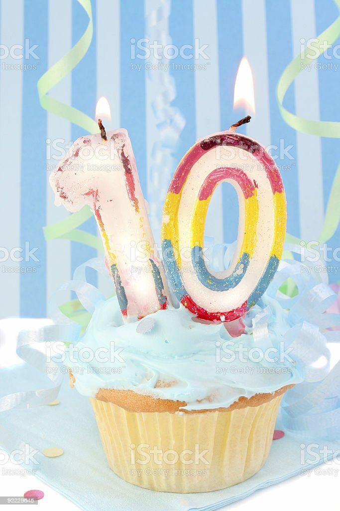 boy's tenth  birthday royalty-free stock photo