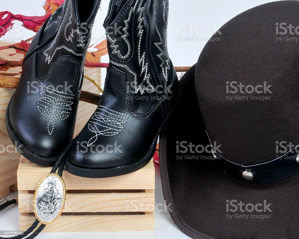 boys western wear stock photo