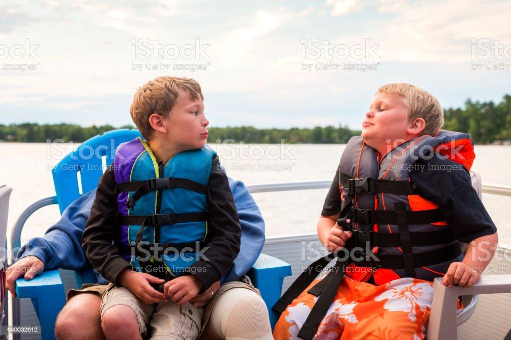 Boys will be boys stock photo