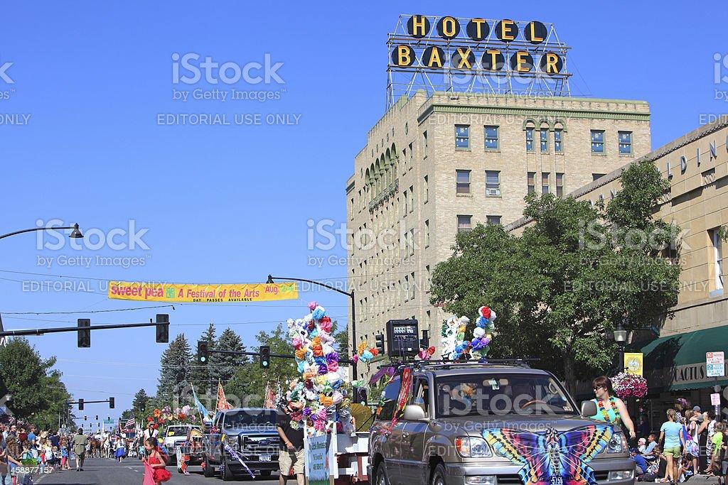 Bozeman Montana Sweet Pea Festival Of The Arts Parade. stock photo