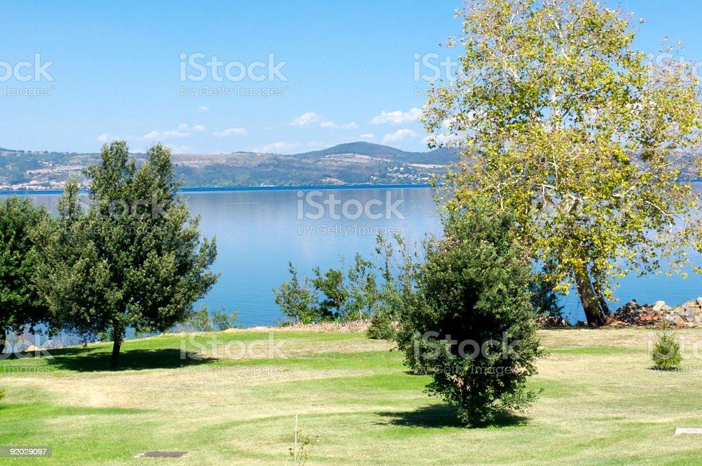 Bracciano lake in Italy royalty-free stock photo