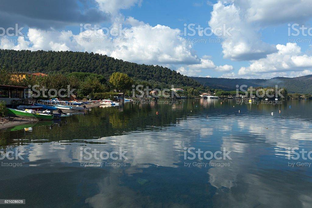 Bracciano Lake stock photo