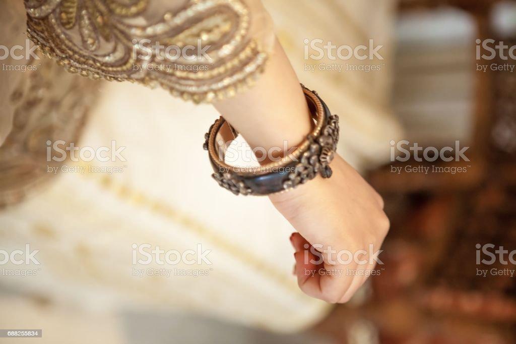 Bracelet arabesque stock photo