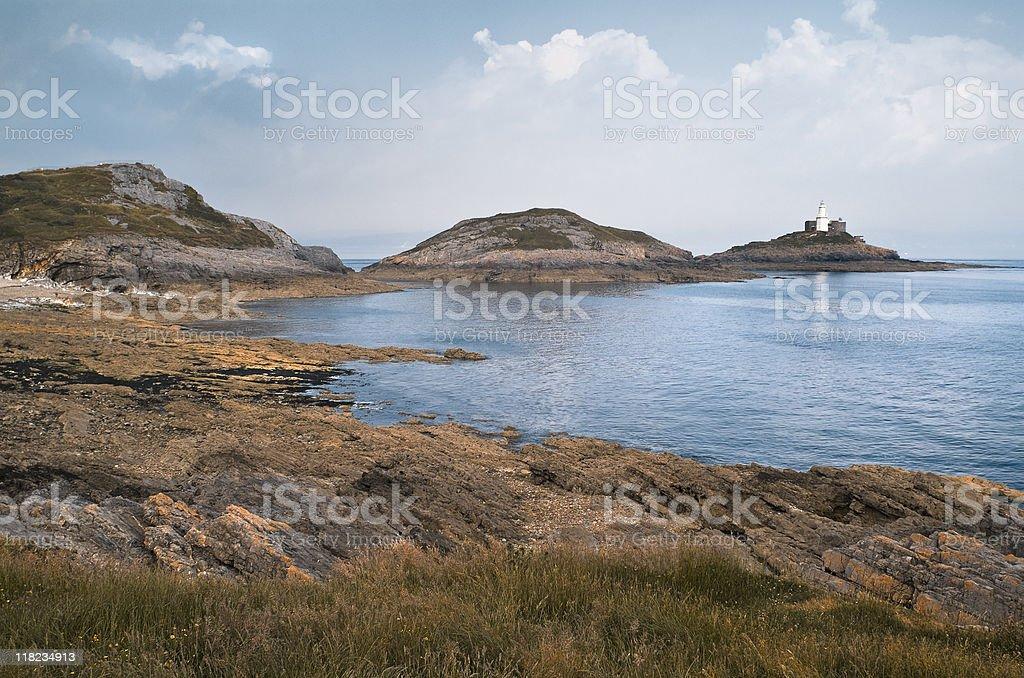 Bracelet Bay - iconic natural landmark of Wales stock photo