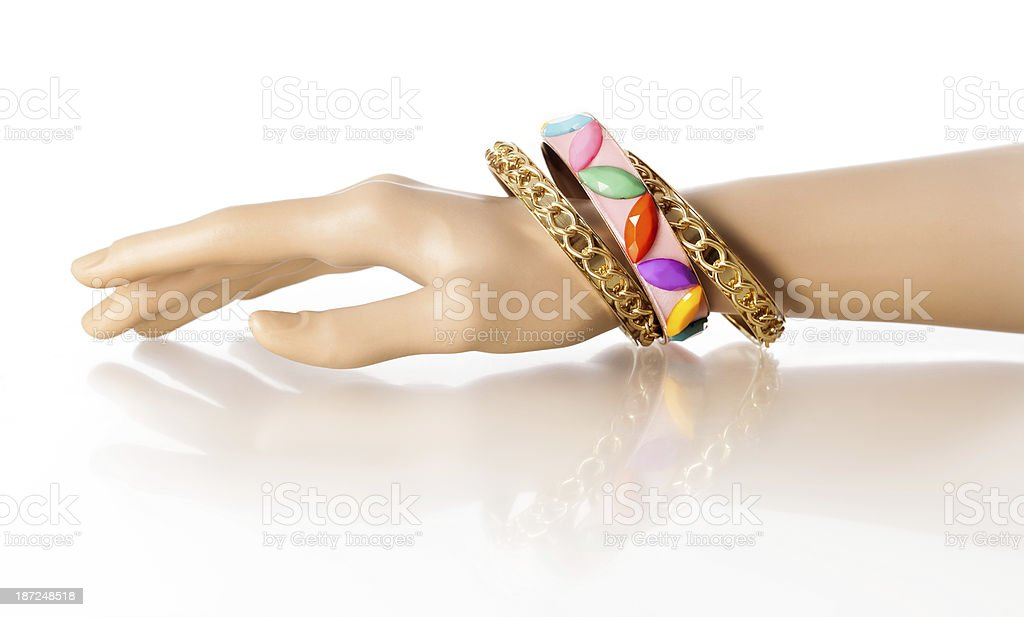 Bracelet Display Hand royalty-free stock photo