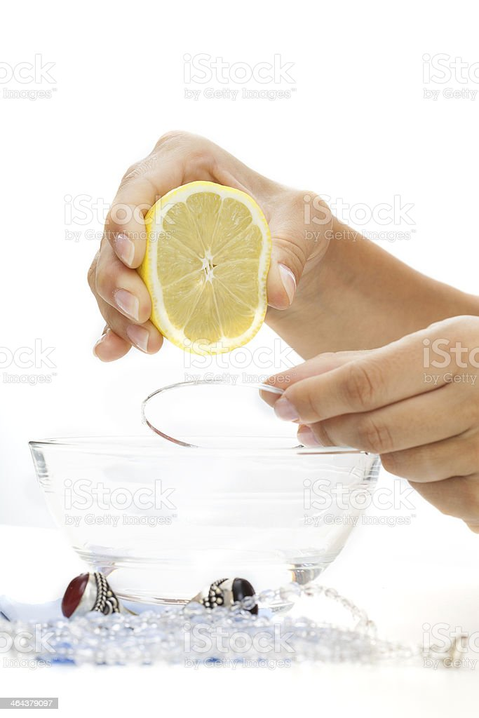 Bracelet lemon bath stock photo