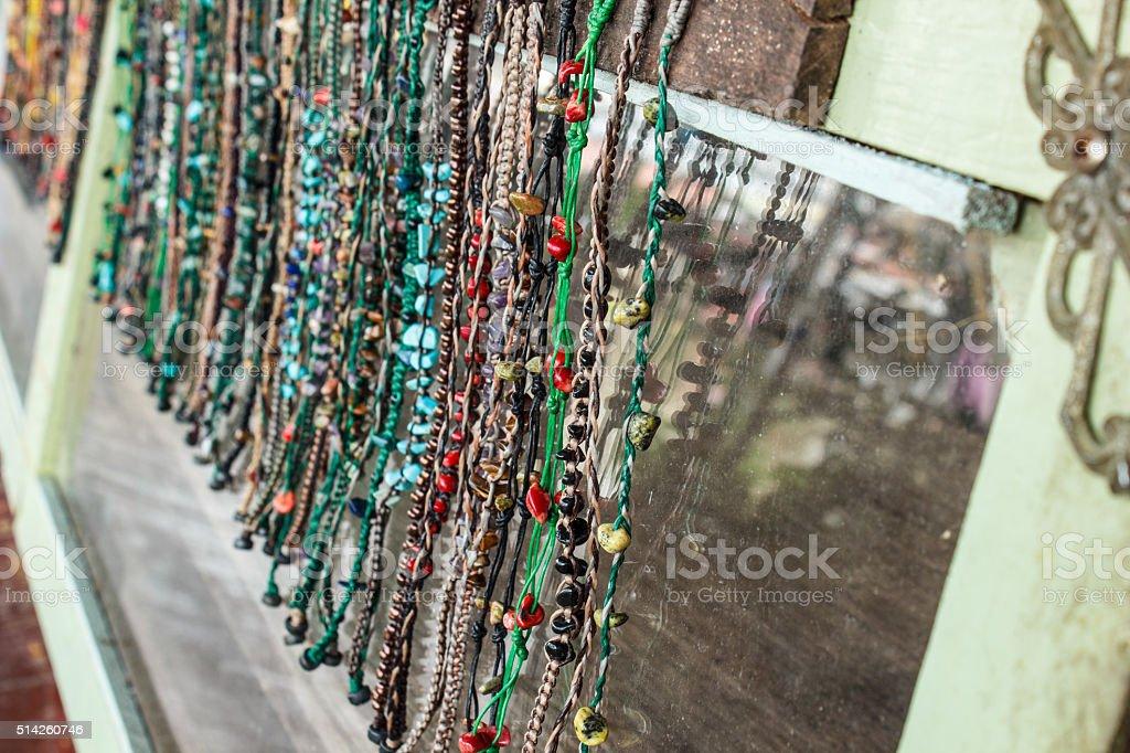 Bracelet Maker and hands made stock photo