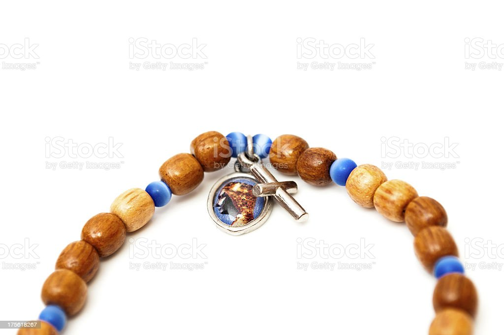 bracelet with the Black Madonna of Montserrat royalty-free stock photo