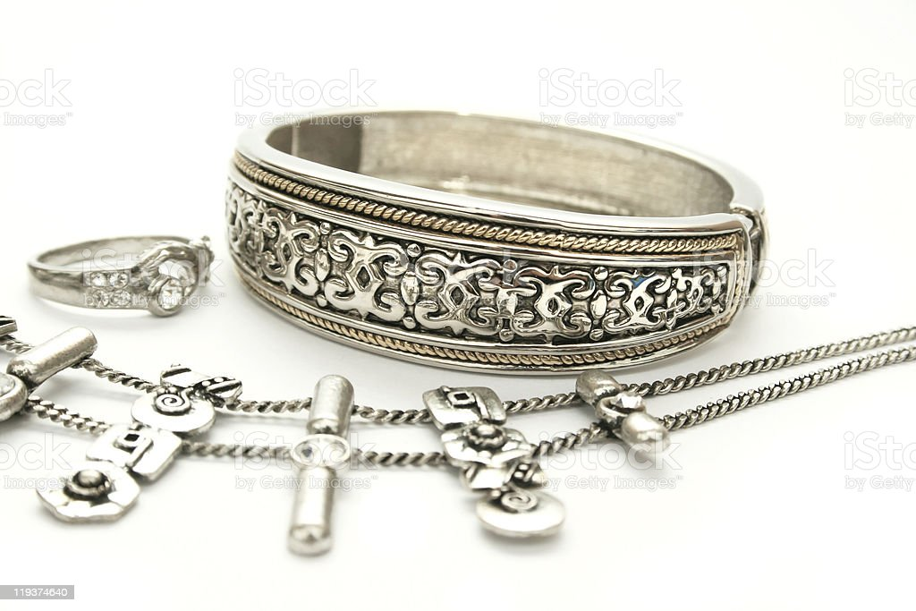 Bracelet,ring and necklace royalty-free stock photo