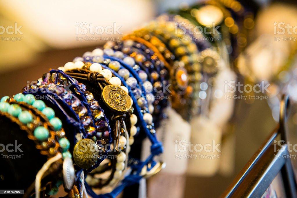Bracelets of many Colors stock photo