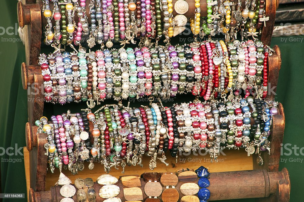 Bracelets on display stock photo