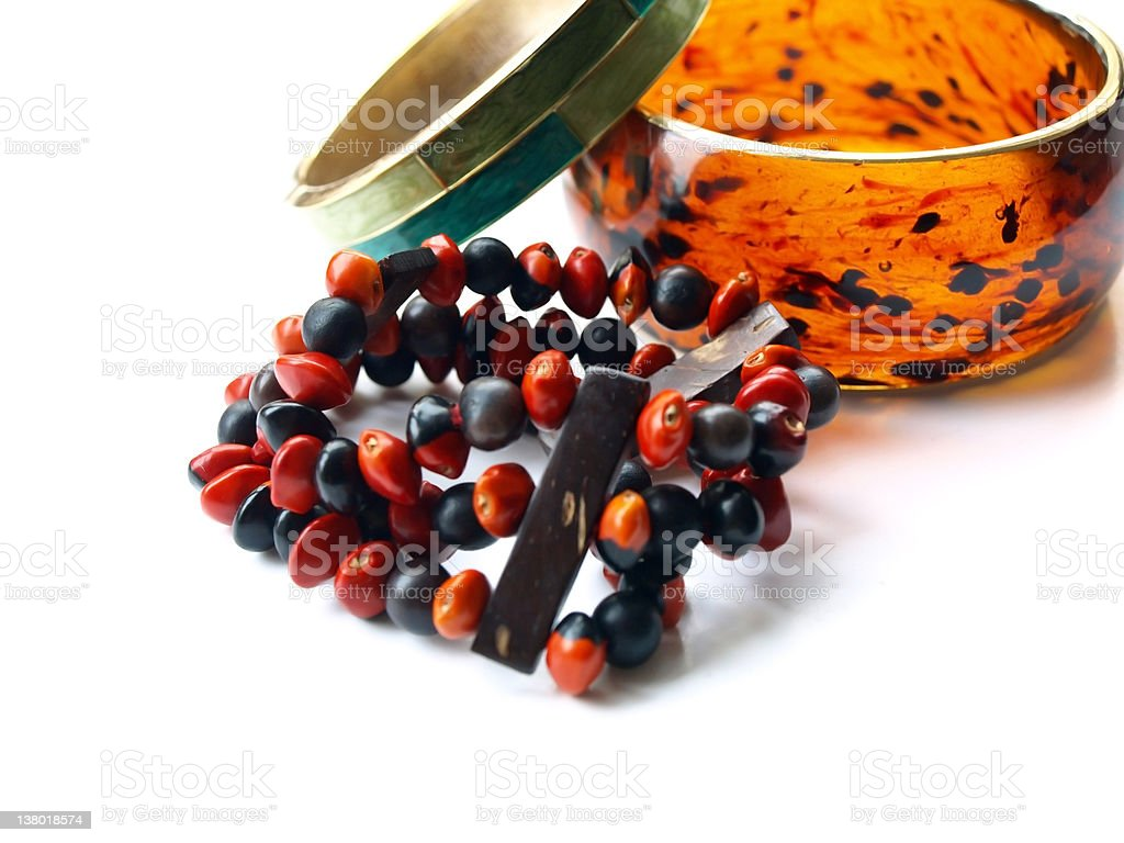 Bracelets various royalty-free stock photo