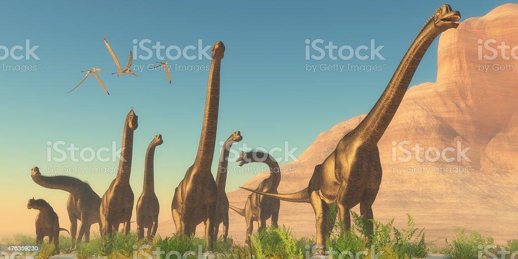 Brachiosaurus Afternoon stock photo