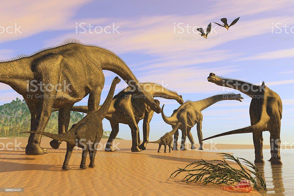 Brachiosaurus Beach stock photo