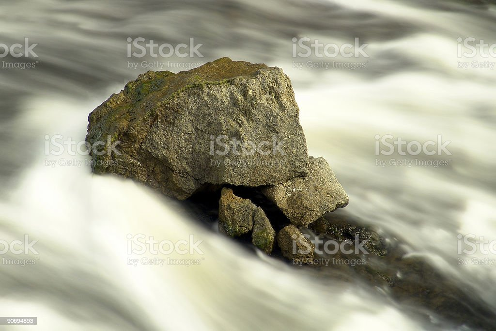 bracing the stream royalty-free stock photo