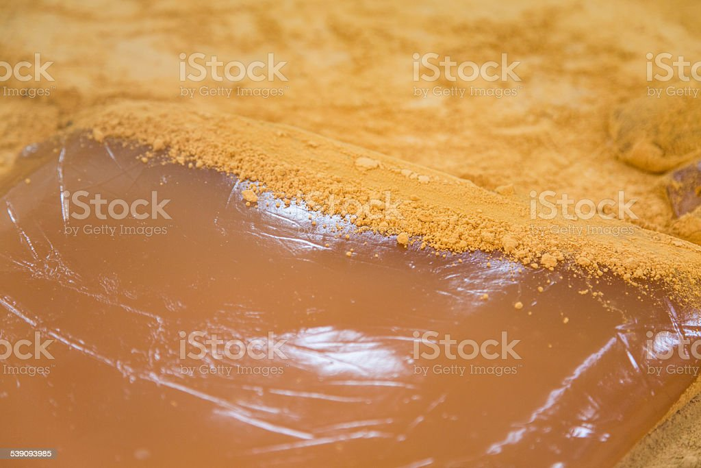 Bracken-Starch on Slab of Mochi stock photo