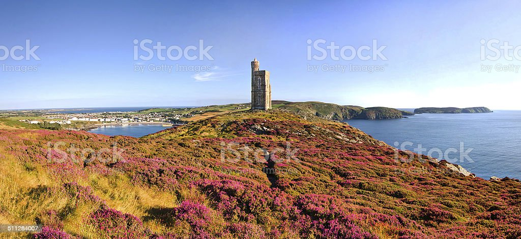 Brada head, Port Erin, Calf Mann, Isle of Man stock photo